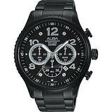 ALBA RACE 極限賽車計時腕錶-鍍黑/45mm VD53-X236SD(AT3953X1)