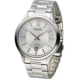 SEIKO 精工 CS紳士經典時尚腕錶 7N42-0GG0S SGEH51P1 銀白