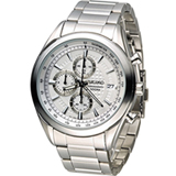 SEIKO 精工錶三眼計時錶 8T67-00A0S SSB173P1 白