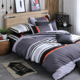 OLIVIA 《 夏洛特 灰 》 單人兩用被套床包三件組