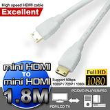 超高畫質mini HDMI對mini HDMI極速傳輸線(1.8M)