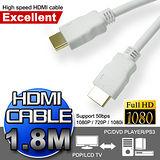 超高畫質HDMI 極速傳輸線(1.8M)