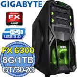 技嘉760平台【無間戰神】AMD FX六核 GT730-2G獨顯 1TB燒錄電腦