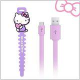 Hello Kitty microUSB 傳輸充電線 (KT-CB03)-紫(KT-CB03PP)
