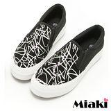 【Miaki】休閒鞋厚底經典帆布鞋包鞋 (銀色)