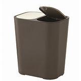《ASVEL》按壓式分類垃圾桶15L-咖啡