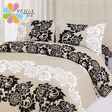 飾家《花香蜜戀》加大六件式兩用被床罩組台灣製造