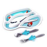 【KIDSFUNWARES】造型兒童餐盤組-飛機