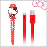 Hello Kitty microUSB 傳輸充電線 (KT-CB03)-紅(KT-CB03RD)