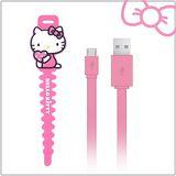 Hello Kitty microUSB 傳輸充電線 (KT-CB03)-粉(KT-CB03PK)
