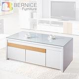 Bernice-溫蒂日系簡約白色大茶几-附2入收納椅凳