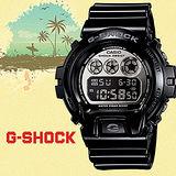 G-SHOCK 黑色旋風運動時尚電子腕錶-53mm/ DW-6900NB-1