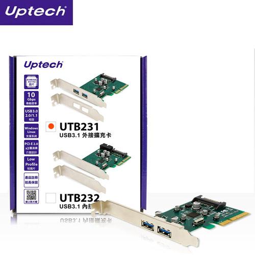 登昌恆 Uptech UTB231 USB3.1外接擴充卡