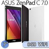 ASUS 華碩 ZenPad C 7.0 7吋/8GB/WIFI版四核心平板電腦(Z170CX)-送ASUS四巧包(滑鼠墊+清潔刷+清潔液+擦拭布) +螢幕保護貼+可立式皮套
