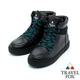 女Travel Fox 荔紋絨領高筒鞋915820(黑-101)