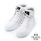 女Travel Fox 荔紋絨領高筒鞋915820(白-107)