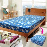 KOTAS 珊瑚絨二折彈簧床 3尺 單人 (水藍色、 桃紅色)