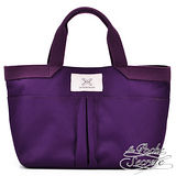 La Poche Secrete 漾彩手提帆布袋-魅力紫