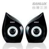 SANLUX台灣三洋 2.0聲道USB多媒體電腦喇叭SYSP-235
