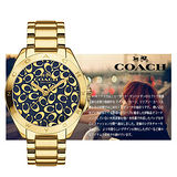 COACH 大錶徑時尚LOGO錶徑女用中性腕錶-40mm/CO14502348