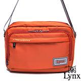 Lynx - 山貓城市悠遊款輕便機能橫式側背包-橘紅