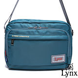 Lynx - 山貓城市悠遊款輕便機能橫式側背包-湖水藍