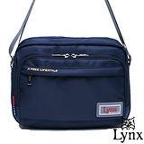 Lynx - 山貓城市悠遊款輕便機能橫式側背包-深海藍