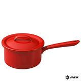 月兔印-琺瑯單手醬汁鍋(紅.16cm)