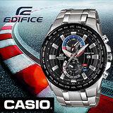 CASIO EDIFICE 阿斯拉急速賽車世界地圖雙顯錶-黑面/49.2mm/EFR-550D-1A