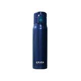 【AWANA】經典彈跳保溫瓶500ml 藍色