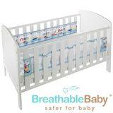 英國 BreathableBaby 透氣嬰兒床圍 兩側型 (19431海洋帆船款)