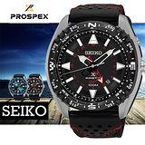SEIKO PROSPEX 陸地奔馳紅色時尚男用腕錶-45mm/5M85-0AE0R(SUN049P2)