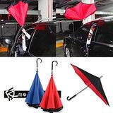 《雨傘新革命》雙層抗UV不滴水反向傘★送暖包10入