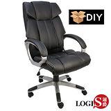 邏爵LOGIS~DIY亞拉岡高背皮面軟墊主管椅/辦公椅