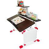 【第一博士】T5兒童成長書桌椅組-120公分-胡桃木/薄邊