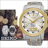 SEIKO PREMIER 羅馬古典美學時尚男用石英腕錶-40mm/ 6A32-00X0K(SNQ148J1)
