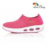 LC雨傘 氣墊彈力健走鞋女款-粉紅色(Eur36~39)