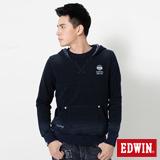 EDWIN 江戶勝INDIGO連帽T恤-男-土耳其藍