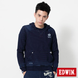 EDWIN 江戶勝INDIGO連帽T恤-男-丈青色
