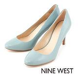 NINE WEST--氣質優雅 柔軟皮革高跟鞋--甜美藍