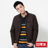 EDWIN 網路限定 雙口袋立領外套-男-深咖啡