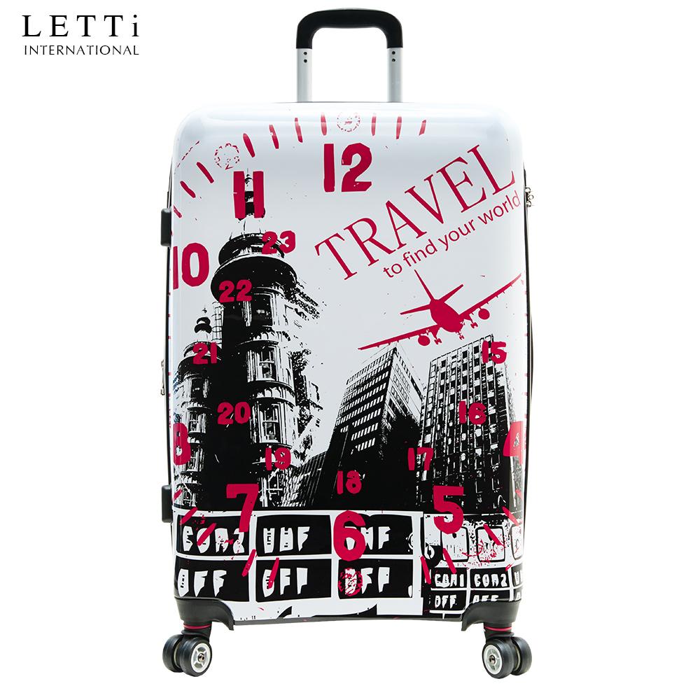 LETTi 『城市概念』24吋 PC鏡面旅行箱-白色(可加大硬殼TSA行李箱)