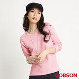 BOBSON 女款拼接蕾絲長袖上衣(粉34088-11)