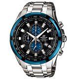 CASIO CASIO EDIFICE.經典三針三眼賽車腕錶EF-539D-1A2 黑面籃框