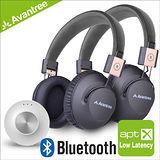 Priva音樂藍牙一對二發射器+Audition Pro無線NFC耳罩式耳機x2