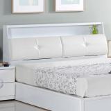 AT HOME-凱渥5尺白色雙人床頭箱