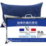 范倫鐵諾【星夜之夢-藍】防蹣抗菌羽絲絨枕2入(使用3M吸濕排汗藥劑)