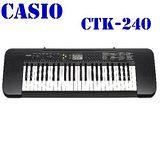 CASIO卡西歐 49標準琴鍵電子琴 -黑 CTK-240