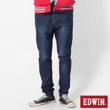 EDWIN 迦績褲JERSEYS X E.F紅袋花窄管牛仔褲-男-酵洗藍