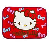 【BEDDING】 Kitty蝴蝶結-紅 居家防滑腳踏墊